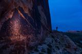 The Butler Wash Petroglyph Panel in the San Juan River Canyon
