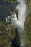 Aerial View over Victoria Falls  Zambia