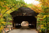 A Fall View of the Albany Covered Bridge  Built in 1858  New Hampshire