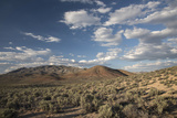 Basin Range Landscape Off Highway 395 on the Extraterrestrial Highway  Nevada