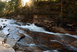 Water Cascading over Rock at the Lower Ammonoosuc Falls in October