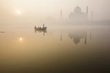 The Taj Mahal across the Yamuna River