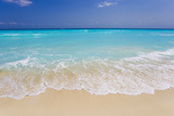 White Sand and Turquoise Waters at the Beaches in Cancun  Mexico