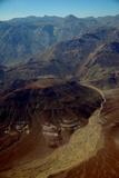 Aerial View of Northwestern Namibia Near Serra Cafema Camp on Banks of the Kufeme River
