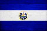 El Salvador Flag Design with Wood Patterning - Flags of the World Series