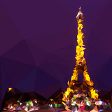 Low Poly Paris Art - The Eiffel Tower II