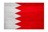 Bahrain Flag Design with Wood Patterning - Flags of the World Series