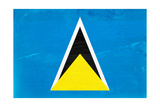 St Lucia Flag Design with Wood Patterning - Flags of the World Series