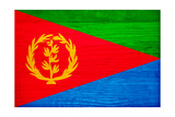 Eritrea Flag Design with Wood Patterning - Flags of the World Series
