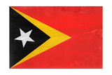Timor-Leste Flag Design with Wood Patterning - Flags of the World Series