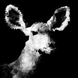 Low Poly Safari Art - Antelope - Black Edition IV