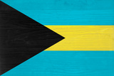 Bahamas Flag Design with Wood Patterning - Flags of the World Series