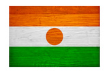 Niger Flag Design with Wood Patterning - Flags of the World Series