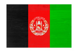 Afghanistan Flag Design with Wood Patterning - Flags of the World Series