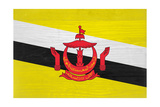 Brunei Flag Design with Wood Patterning - Flags of the World Series