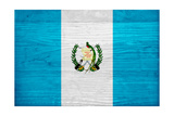 Guatemala Flag Design with Wood Patterning - Flags of the World Series Reproduction d'art par Philippe Hugonnard
