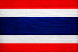 Thailand Flag Design with Wood Patterning - Flags of the World Series