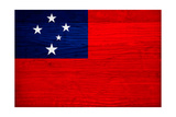 Samoa Flag Design with Wood Patterning - Flags of the World Series