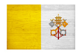 Vatican City Flag Design with Wood Patterning - Flags of the World Series