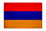 Armenia Flag Design with Wood Patterning - Flags of the World Series