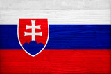Slovakia Flag Design with Wood Patterning - Flags of the World Series