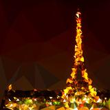 Low Poly Paris Art - The Eiffel Tower