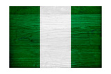 Nigeria Flag Design with Wood Patterning - Flags of the World Series