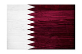 Qatar Flag Design with Wood Patterning - Flags of the World Series