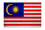 Malaysia Flag Design with Wood Patterning - Flags of the World Series