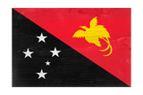 Papua New Guinea Flag Design with Wood Patterning - Flags of the World Series