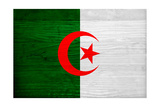 Algeria Flag Design with Wood Patterning - Flags of the World Series
