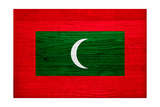 Maldives Flag Design with Wood Patterning - Flags of the World Series