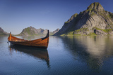 A Viking Boat Replica on a Lake in Norway