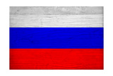 Russia Flag Design with Wood Patterning - Flags of the World Series