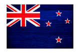 New Zealand Flag Design with Wood Patterning - Flags of the World Series