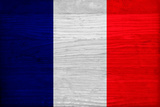 France Flag Design with Wood Patterning - Flags of the World Series