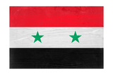 Syria Flag Design with Wood Patterning - Flags of the World Series