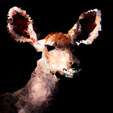 Low Poly Safari Art - Antelope - Black Edition III