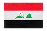 Iraq Flag Design with Wood Patterning - Flags of the World Series