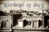 Paris Fashion Series - Weekend in Paris - View of Roofs II