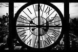 Giant Clock Window - View of Philadelphia at Sunset Papier Photo par Philippe Hugonnard