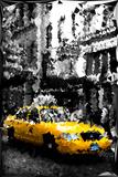 Low Poly New York Art - Manhattan Taxi