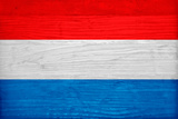 Luxembourg Flag Design with Wood Patterning - Flags of the World Series
