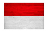 Indonesia Flag Design with Wood Patterning - Flags of the World Series