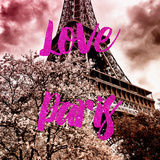 Paris Fashion Series - Love Paris - Pink Eiffel