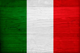Italy Flag Design with Wood Patterning - Flags of the World Series