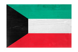 Kuwait Flag Design with Wood Patterning - Flags of the World Series