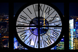 Giant Clock Window - View on the New York City - City of Lights V