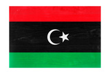 Libya Flag Design with Wood Patterning - Flags of the World Series