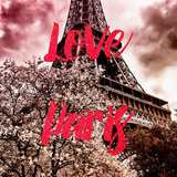 Paris Fashion Series - Love Paris - Pink Eiffel II